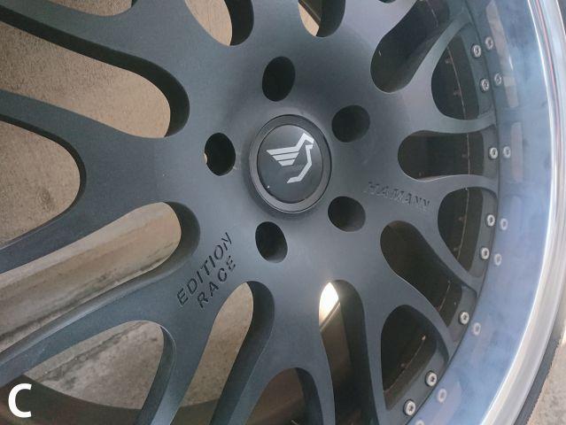 ポルシェHAMANN ハーマン 鍛造EDITION RACE タイヤ、ホイールセット1台分 中古品319960502
